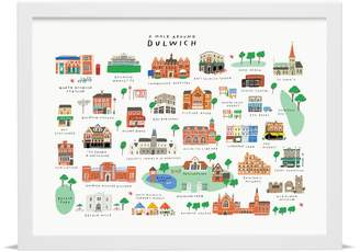 Place in Print 'A Walk Around Dulwich' Map Print