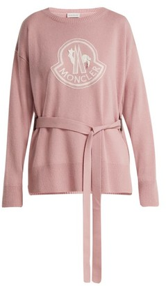Moncler Maglione Wool And Cashmere Blend Sweater - Womens - Pink