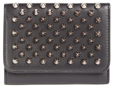 Christian Louboutin  Women's Christian Louboutin Macaron Leather French Wallet - Black