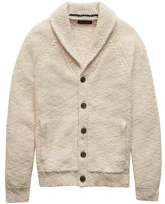 Banana Republic Chunky Cotton Shawl Cardigan Sweater