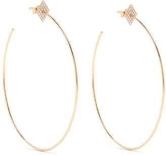 Diane Kordas Diamond & rose-gold earrings