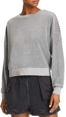 Iro . Jeans IRO.JEANS Heathen Studded Velour Sweatshirt
