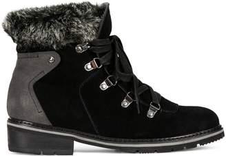 Blondo Vails Faux Fur-Trim Waterproof Ankle Boots