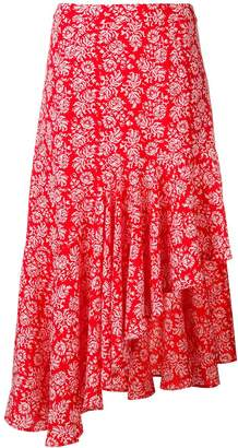 Jovonna London floral print asymmetric skirt
