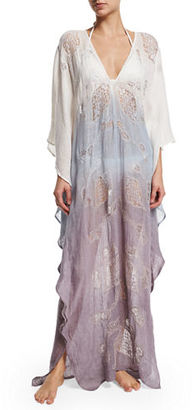 Flora Bella Lima Long-Sleeve Ombre Caftan Coverup $527 thestylecure.com