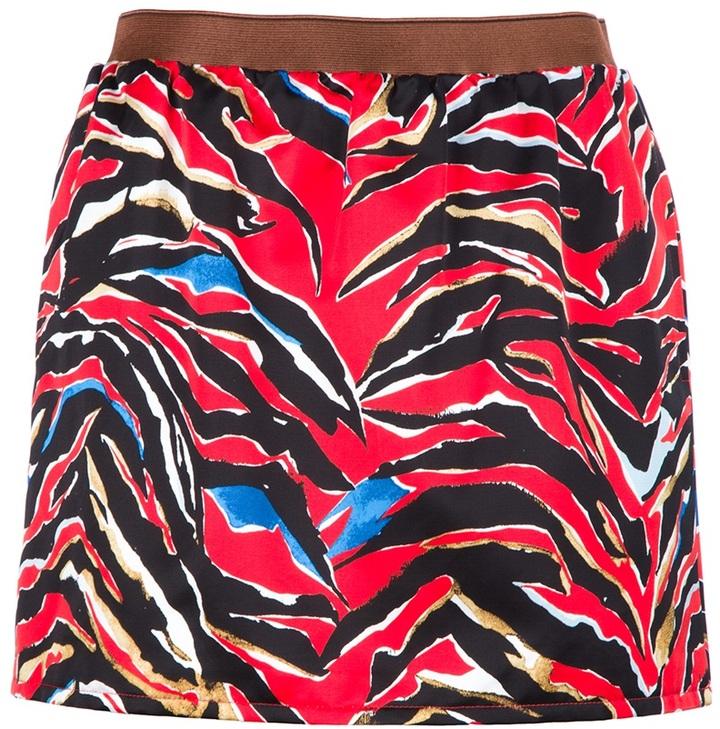Balenciaga zebra print mini skirt