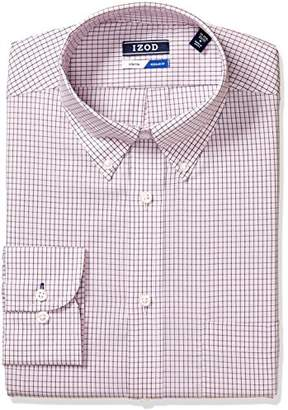 Izod Men's Dress Shirts Regular Fit Stretch Check