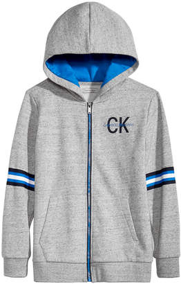 Calvin Klein Big Boys Full-Zip Graphic-Print Hoodie