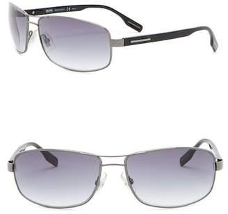 BOSS 62mm Curved Navigator Sunglasses