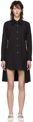 Comme des Garcons Black Pleated Shirt Dress