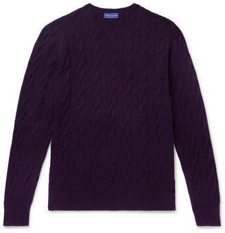 Ralph Lauren Purple Label Cable-knit Cashmere Sweater - Purple