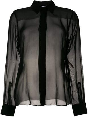 Dondup sheer long-sleeve blouse