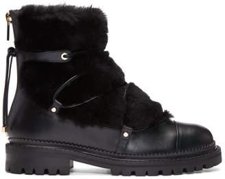 Jimmy Choo Black Shearling Darcie Boots