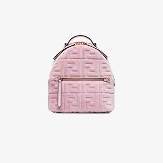 Fendi velvet FF print mini backpack