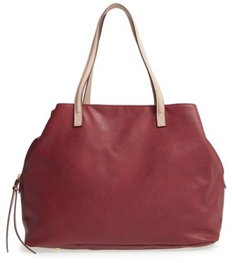 Sole Society Faux Leather Tote - Red $69.95 thestylecure.com