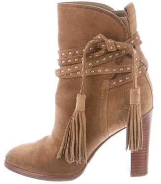 63c5b32c701e Michael Kors Suede Pointed-Toe Ankle Boots
