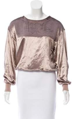 Rag & Bone Velour Long Sleeve Top