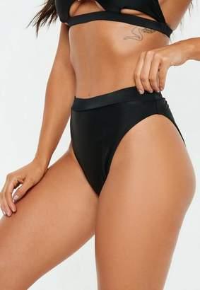 Missguided Black High Leg High Waisted Bikini Bottoms - Mix & Match