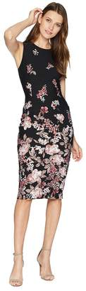 Adrianna Papell Falling Blossoms Printed Sheath Women's Dress
