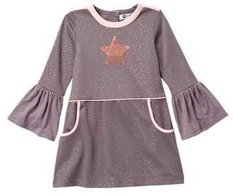 Petit Lem Star Knit Dress (Toddler & Little Girls)