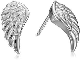 14k Gold Plated Sterling Silver Angel Wing Stud Earrings