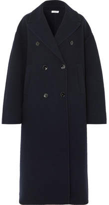 Jil Sander Oversized Wool And Cashmere-blend Coat - Navy