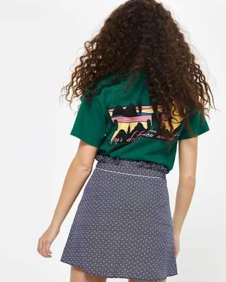 PETITE Spotted Ruffle Mini Skirt