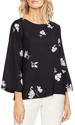 Vince Camuto Floral Bell-Sleeve Top