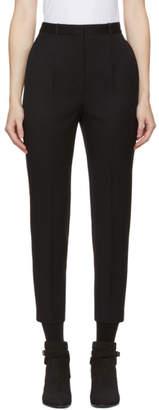 Alexander McQueen Black High-Waist Cigarette Trousers