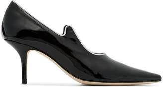 Dorateymur black Groupie Jazz 70 patent leather pumps