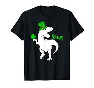 bf311aa49 St. Patrick's Day Irish T-Rex Dinosaur Clover Hat T-Shirt
