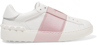Valentino - Leather Slip-on Sneakers - White $745 thestylecure.com