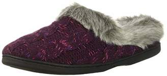 Dearfoams Women's Space-Dye Cable Knit Clog Slipper