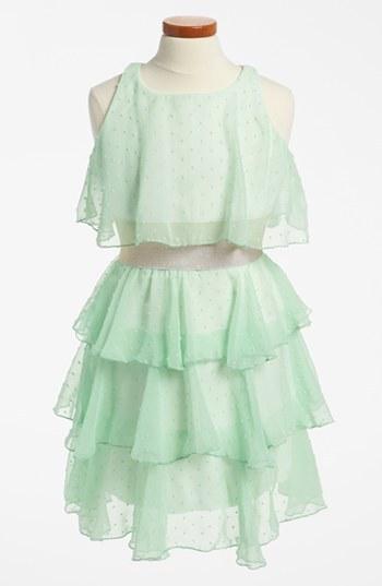 Un Deux Trois Tiered Chiffon Dress (Big Girls)