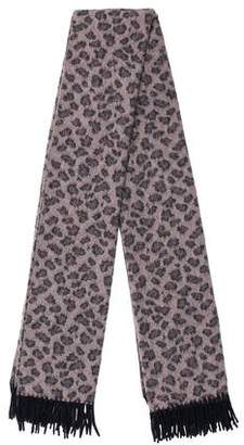 Acne Studios Wool Animal Print Scarf
