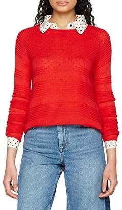 Halogen ONLY NOS Women's Onlcaviar L/s Pullover KNT Noos Jumper, High Risk Red, 8 (Size: X-Small)