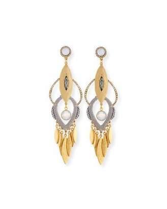 Sequin Tiered Fringe Drop Earrings