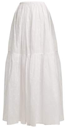 Mes Demoiselles Organdy Glor Embroidered Skirt - Womens - Ivory