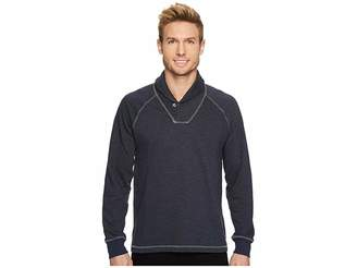 Agave Denim Swell Long Sleeve Shawl Mock Twist Terry Men's Long Sleeve Pullover