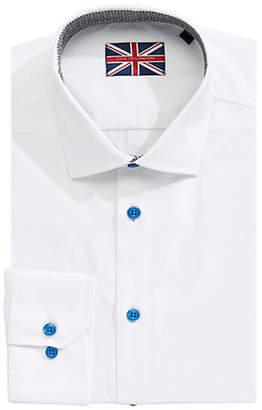 SOUL OF LONDON Long-Sleeve Cotton Dress Shirt