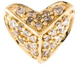 Sydney Evan 14K Diamond Pyramid Heart Stud