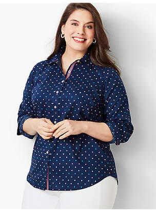 Talbots Classic Cotton Shirt - Printed Dot
