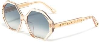 Chloé 63197 'Willow' acetate octagon frame sunglasses