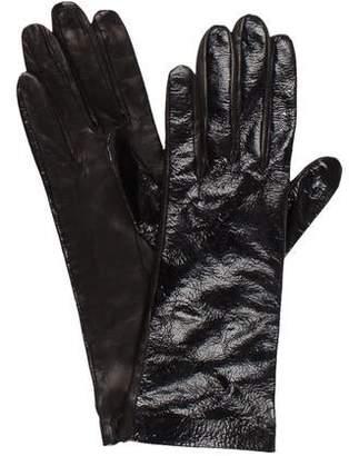 Saint Laurent Patent Leather Gloves