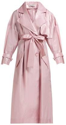 Vika Gazinskaya Silk Taffeta Trench Coat - Womens - Pink