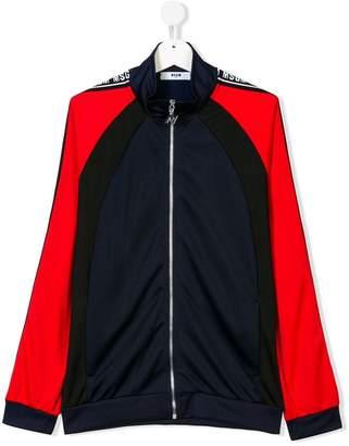 MSGM Kids TEEN front zipped jacket