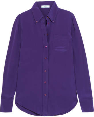 Prada Silk Crepe De Chine Shirt - Purple