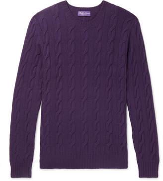 Ralph Lauren Purple Label Cable-Knit Cashmere Sweater