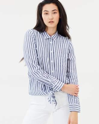 J.Crew Rahleigh Saffron Linen Shirt