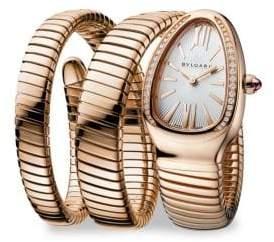 Bvlgari Serpenti Rose Gold & Diamond Double Twist Bracelet Watch